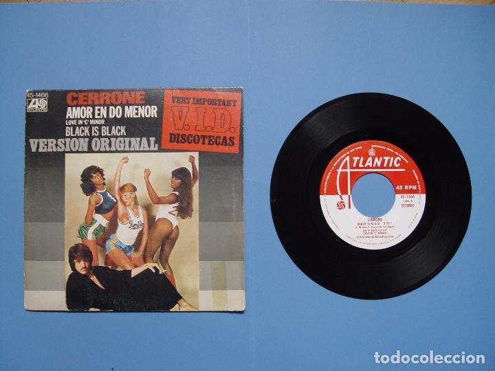 Discos de vinilo: CERRONE (Amor en do menor) Hispavox, 1977 (Vinilo Single) Ed. Española ¡¡COLECCIONISTA!! - Foto 2 - 67987017