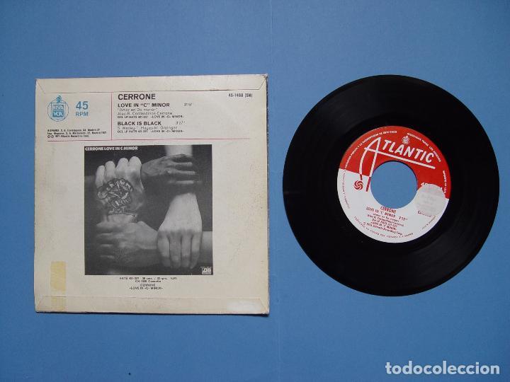 Discos de vinilo: CERRONE (Amor en do menor) Hispavox, 1977 (Vinilo Single) Ed. Española ¡¡COLECCIONISTA!! - Foto 3 - 67987017