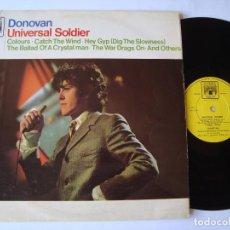 Discos de vinilo: DONOVAN - UNIVERSAL SOLDIER 1967 !! RARO, ORIG. EDIT. UK !! TODO EXC. Lote 67989253