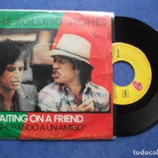 Discos de vinilo - THE ROLLING STONES WAITING ON A FRIEND SINGLE SPAIN 1981 PDELUXE - 67992481