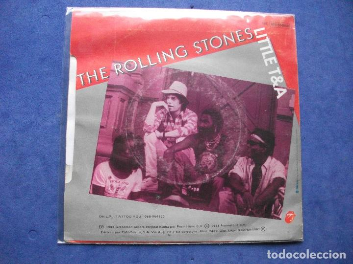 Discos de vinilo: THE ROLLING STONES WAITING ON A FRIEND SINGLE SPAIN 1981 PDELUXE - Foto 2 - 67992481