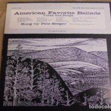 Discos de vinilo: AMERICAN FAVORITE BALLADS THREE 3 - PETE SEEGER - FOLKWAYS - CON LIBRETO - JAMAS USADO. Lote 67994257