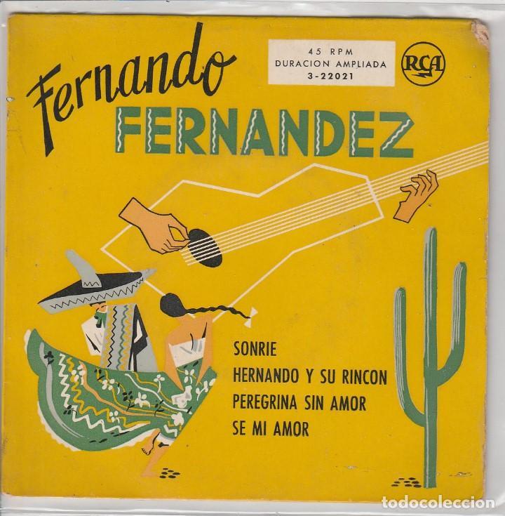 FERNANDO FERNANDEZ / SONRIE + 3 (EP 1959) (Música - Discos de Vinilo - EPs - Grupos y Solistas de latinoamérica)