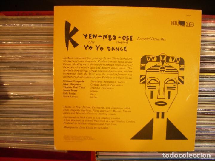 Discos de vinilo: KABBALA- YEN- NBO- OSE MAXISINGLE VIRGIN 1984 - Foto 2 - 68035829