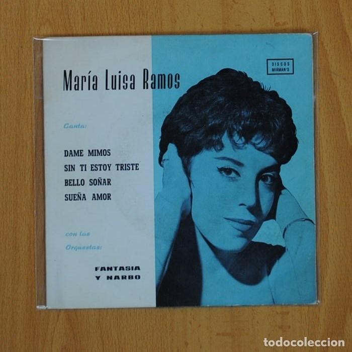 MARIA LUIS RAMOS - DAME MIMOS + 3 - EP (Música - Discos de Vinilo - EPs - Solistas Españoles de los 50 y 60)