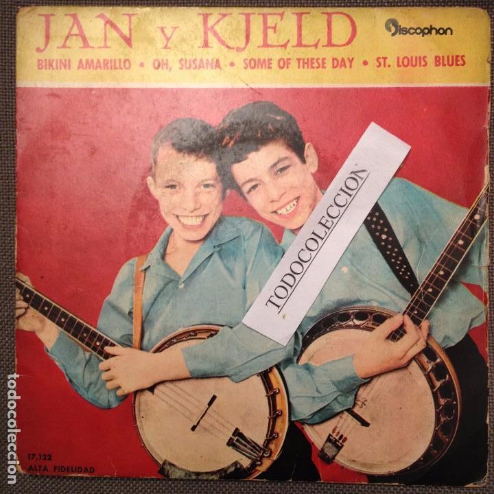 JAN Y KJELD: BIKINI AMARILLO, OH, SUSANA, SOME OF THESE DAY, ST LOUIS BLUES EP ED.ESPAÑA 1962 (Música - Discos de Vinilo - EPs - Pop - Rock Internacional de los 50 y 60)