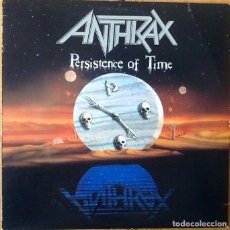 Discos de vinilo: ANTHRAX : PERSISTENCE OF TIME [USA 1990] LP/1ST EDITION. Lote 68047505