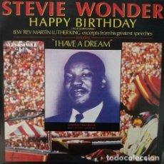 Discos de vinilo: STEVIE WONDER HAPPY BIRTHDAY R@RE SPANISH MAXI 45 REV. MARTIN LUTHER KING. Lote 68050377