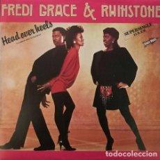 Discos de vinilo: FREDI GRACE & RHINSTONE HEAD OVER HEELS SPANISH MAXI 45 ELECTRONIC SOUL FUNK. Lote 68051565