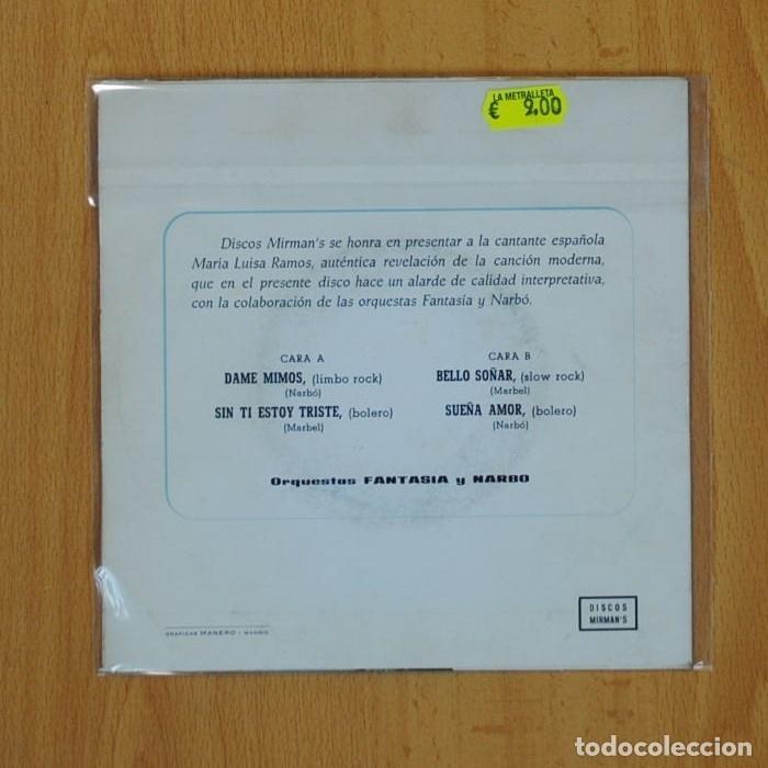Discos de vinilo: MARIA LUIS RAMOS - DAME MIMOS + 3 - EP - Foto 2 - 68044990
