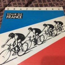 Discos de vinilo: KRAFTWERK-TOUR DE FRANCE-1983-SPAIN-SINGLE PROMO MUY RARO-COMO NUEVO. Lote 186151432