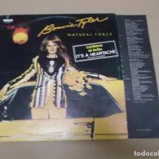 Dischi in vinile: BONNIE TYLER (LP) NATURAL FORCE AÑO 1978 – HOJA INTERIOR CON LETRAS. Lote 68091609
