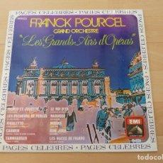 Discos de vinilo: LP FRANCK POURCEL GRAND ORCHESTE LES GRANDS AIRS D´OPERAS . Lote 68098437