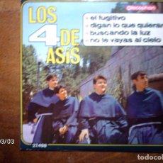 Discos de vinilo: LOS 4 DE ASIS - EL FUGITIVO + 3 . Lote 68125037