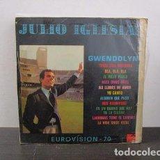 Discos de vinilo: JULIO IGLESIAS GWENDOLYNE EUROVISION 70 LP T69 ESTADO REGULAR G- REFERENCIA RARO ESCASO UNICO. Lote 68133869