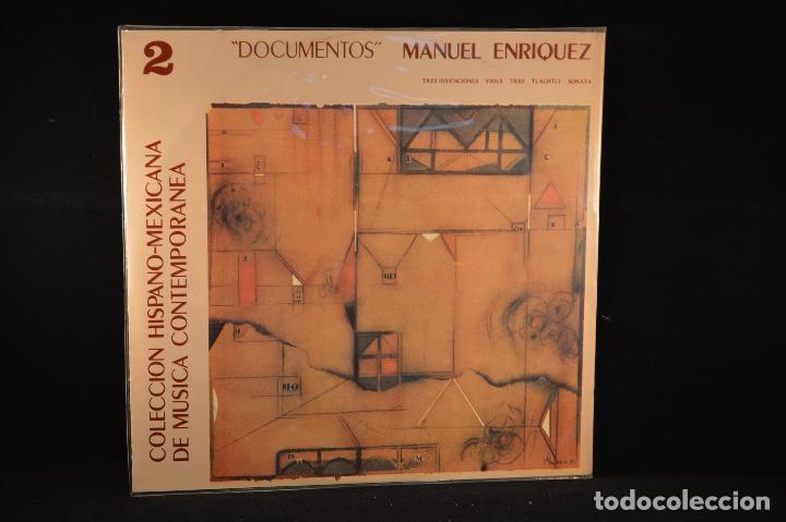 COLECCIÓN HISPANO-MEXICANA DE MÚSICA CONTEMPORÁNEA - MANUEL ENRIQUEZ - DOCUMENTOS (Música - Discos - LP Vinilo - Electrónica, Avantgarde y Experimental)