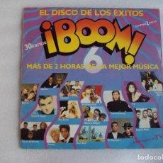 Discos de vinilo: ¡BOOM! 6, DOBLE LP EDICION ESPAÑOLA 1990, EMI-ODEON.. Lote 68199537