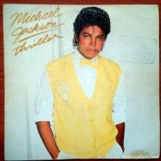 Discos de vinilo: MICHAEL JACKSON: THRILLER, SINGLE EPIC EPC A-3643. SPAIN, 1983. VG+/VG. Lote 68202861
