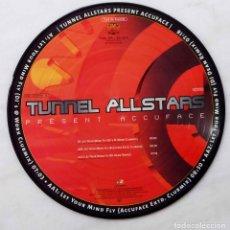 Discos de vinilo: TUNNEL ALLSTARTS. PRESENT ACCUFACE. MAXI SINGLE 3 TEMAS PICTURE DISC-DISCO IMPRESO.. Lote 68249869