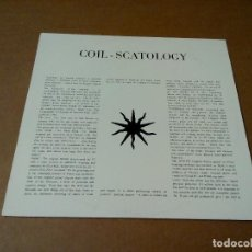 Discos de vinilo: COIL - SCATOLOGY (LP REEDICIÓN, FORCE & FORM FFK1) NUEVO. Lote 104138748