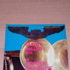 Discos de vinilo: GLENN MILLER MEETS THE DORSEY BROTHERS - RARO 1977 TURQUESA -BUEN ESTADO. Lote 68281445
