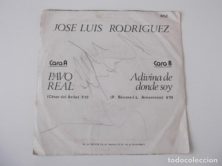 Discos de vinilo: JOSE LUIS RODRIGUEZ - Pavo real - Foto 2 - 68298641