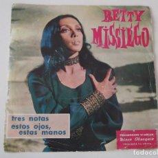 Discos de vinilo: BETTY MISSIEGO - TRES NOTAS. Lote 68301641