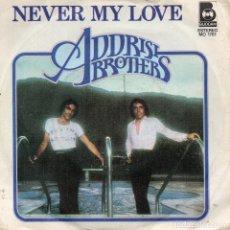 Discos de vinilo: ADDRISI BROTHERS SINGLE PROMO 1977 MADE IN SPAIN. Lote 68302229