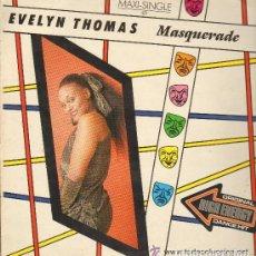 Discos de vinilo: EVELYN THOMAS - MASQUERADE (2 VERSIONES) - MAXI-SINGLE SPAIN 1984. Lote 68308901