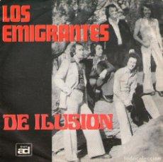 Discos de vinilo: LOS EMIGRANTES - SINGLE VINILO 7'' - EDITADO EN ALEMANIA - DÍMELO NIÑA + DE ILUSIÓN - ADD 001. Lote 68316529