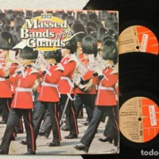 Discos de vinilo: MASSED BANDS OF THE GUARDS DOBLE LP NOT FOR SALE GATEFOLD COVER. Lote 68333729