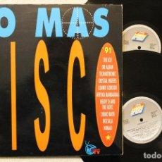 Discos de vinilo: LO MAS DISCO 91 DOBLE LP GATEFOLD COVER. Lote 68336541