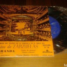 Discos de vinilo: FRAGMENTOS DE ZARZUELAS.LA PARRANDA. SELECCIÓN N° 56 (EP.7