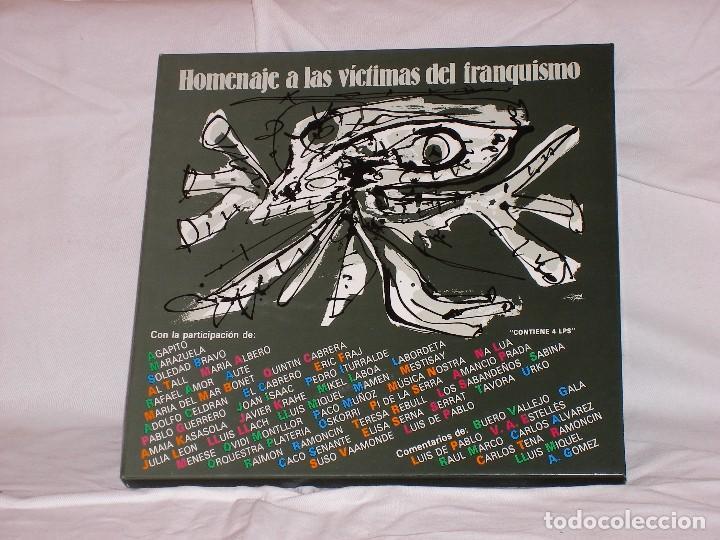 HOMENAJE A LAS VÍCTIMAS DEL FRANQUISMO (Música - Discos de Vinilo - EPs - Cantautores Españoles)