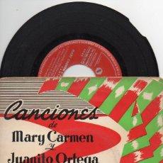 Discos de vinilo: MARY CARMEN Y JUANITO ORTEGA : SEIS CANCIONES 33 RPM. (ORPHEO). Lote 68368697