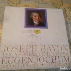 Discos de vinilo: ANTIGUO 6 VINILO DE JOSEPH HAYDN SINFONIAS DE LONDRES EUGEN JOHUM. Lote 68373901