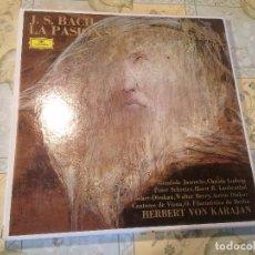 Discos de vinilo: ANTIGUO 4 VINILO DE JOHANN SEBASTIAN BACH LA PASION HERBERT VON KARAJAN. Lote 68374605