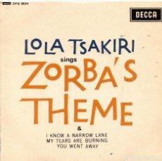 Discos de vinilo: LOLA TSAKIRI - EP 1965. Lote 68380009