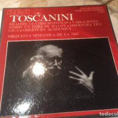 Discos de vinilo: ANTIGUO 3 VINILO TOSCANINI ORQUESTRA SINFONICA DE LA NBC . Lote 68380533