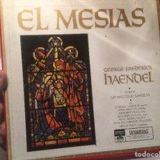Discos de vinilo: ANTIGUO 3 VINILO EL MESIAS GEORGE FREDERICK HAENDEL . Lote 68381297