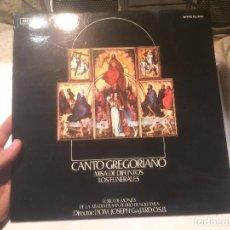 Discos de vinilo: ANTIGUO VINILO CANTO GREGORIANO MISA DE DIFUNTOS LOS FUNERALES, DIRECTOR JOSEPH GAJARDO O.S.B. . Lote 68381837
