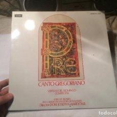 Discos de vinilo: ANTIGUO VINILO CANTO GREGORIANO MISA DE VISPERAS DEL DOMINGO, DIRECTOR JOSEPH GAJARDO O.S.B. . Lote 68382181