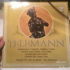 Discos de vinilo: ANTIGUO VINILO TELEMANN ORQUESTRA PRO ARTE DE MUNICH DE LA CASA PHILIPS . Lote 68382509