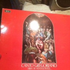 Discos de vinilo: ANTIGUO VINILO CANTO GREGORIANO MISA DE PENTECOSTES MISA DE CORPUS CHRIST POR JOSEPH GAJARDO O.S.B. . Lote 68383205