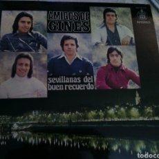 Discos de vinilo: AMIGOS DE GINES. SEVILLANAS DEL RECUERDO. Lote 263595760