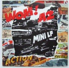 Discos de vinilo: WOM! A2 MINI LP JUSTICIA EN LAS CALLES VINILO TUBOESCAPE RECORDS. Lote 68390201