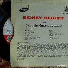 Discos de vinilo: SIDNEY BECHET CON CLAUDE LUTER Y SU ORQUESTA - HISPAVOX 1959- PEQUEÑA FLOR +3. Lote 68542233