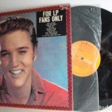Discos de vinilo: ELVIS=FOR LP FANS OMLY= RCA MADRID 1970=. Lote 68544477