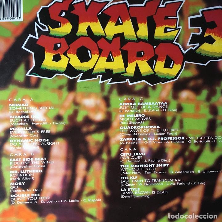 SKATE BOARD 3 - DOBLE LP . 1991 BLANCO Y NEGRO (Música - Discos - LP Vinilo - Techno, Trance y House)