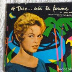 Discos de vinilo: BRIGITTE BARDOT ?– ET DIEU CREA LA FEMME - BELTER ?– 25.503 - EP ORIGINAL 1957. Lote 68578945
